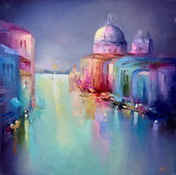 Venice Colours II by Anna Gammans -  sized 20x20 inches. Available from Whitewall Galleries